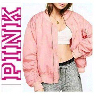 BRAND NEW Pink VICTORIA's SECRET Flight JACKET